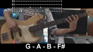 What A Beautiful Name By Hillsong (Bass Lesson WTABS)