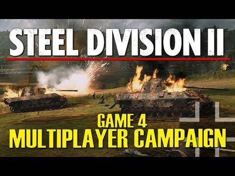 THE LONGEST BATTLE! Steel Division 2 Multiplayer Campaign Gameplay #4 (Slutsk, 4v4)