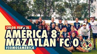 COLOR Femenil América 8 - 0 Mazatlán FC.