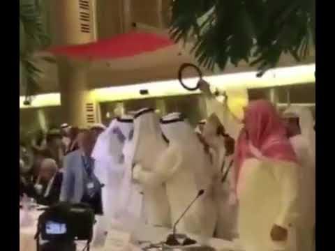 لحظة اعلان فوز ناصر الكريوين بمنصب أمين عام اتحاد المحامين العرب