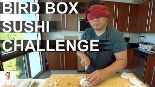 BIRD BOX Sushi Challenge   Making Sushi Blindfolded