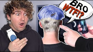 I CUT & DYED MY ROOMMATES HAIR & RUINED IT...