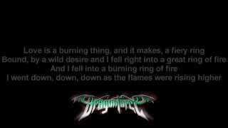 DragonForce - Ring Of Fire (Johnny Cash Cover) | Lyrics on screen | Full HD