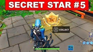 SEASON 9 WEEK 5 SECRET BATTLE STAR LOCATION GUIDE !- Find the Secret Battle Star in Loading Screen 5