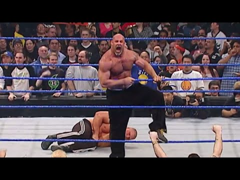 Download Goldberg is arrested after attacking Brock Lesnar: WWE No Way Out 2004 HD Mp4 3GP Video and MP3