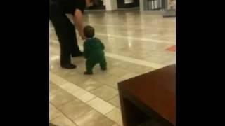 Donovan practicing walking