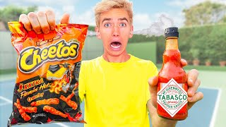 TESTING WORLDS SPICIEST FOODS with BEST FRIEND TWIN! (Mystery Neighbor STOLE Sharer Fam Website)