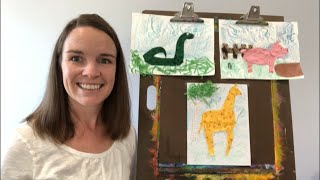 Texture Animals! Elementary Art Project