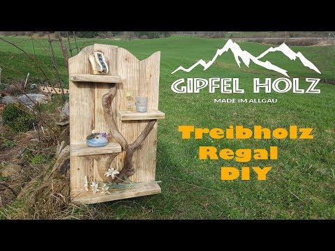 DIY Treibholz-Wand-Regal - Rustikales Möbelstück aus Schwemm- oder Altholz selber machen
