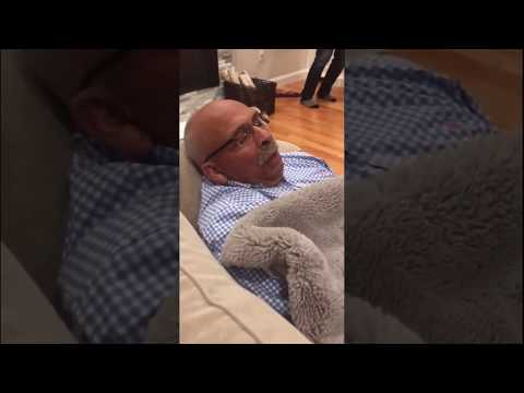 This Dad snores like a Tennis Match