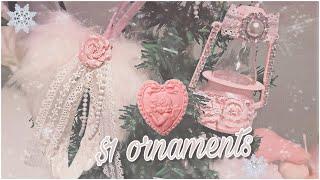 DOLLAR TREE CHRISTMAS DIY // Pink Shabby Chic Christmas Ornaments