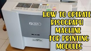 How to operate Risograph Machine for Printing Modules | Step by Step TUTORIAL | COPYLANDIA Corp.