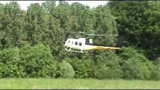 preview picture of video 'Bell UH 1 Vario Turbine HeliDay Enghien 2012'