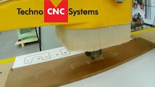 HDS CNC Router Machining Phenolic With Tool Changer For Multiple Cutting Operations