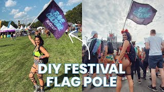 How to Make a Collapsible Flag Pole for Festivals (DIY Tutorial)