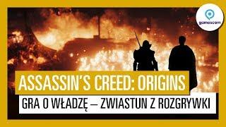 """Assassin's Creed: Origins – zwiastun z rozgrywki """"Gra o władzę"""", Gamescom 2017"""