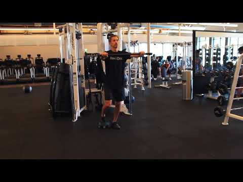 Reverse Lunge Cable Chest Press