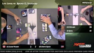 2015 Magic World Championship Round 12 (Standard): Shaun McLaren vs. Paul Rietzl