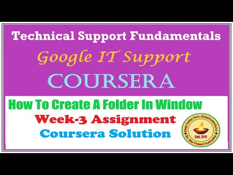 Coursera    Course: Technical Support Fundamentals    How to ...
