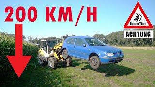 Golf 4 fährt autonom - bei 200 km/h ablassen | Dumm Tüch