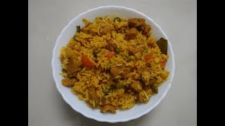 Easy Soya Chunks Fried Rice || Soya Chunks Pulao For Beginners || khushboocooks