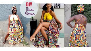 How To Sew-DIY KENTE MAXI DRESS (African Print)