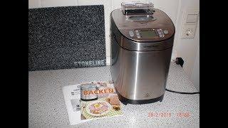 der Brotbackautomat von Rommelsbacher  kleine Einführung