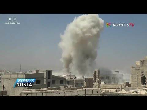 Serangan Rudal Suriah Sasar Pemberontak di Damaskus