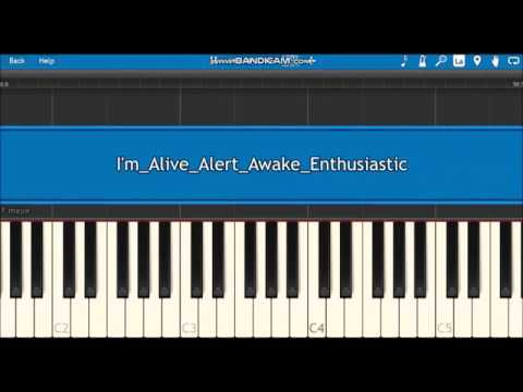 I'm Alive Alert Awake Enthusiastic Synthesia Piano Tutorial - IJ & Mic