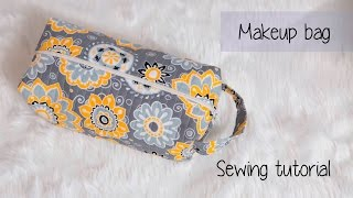 Quilted Makeup/travel Bag Sewing Tutorial