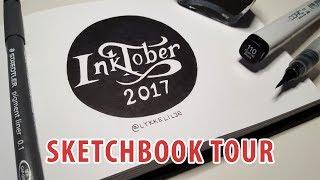 Inktober 2017 Sketchbook Tour