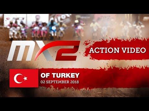 Thomas Kjer Olsen battles with Pauls Jonass - MXGP of Turkey 2018