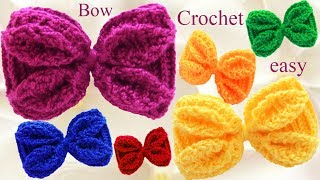 Lazos Y Moños Con Hojas En Relieve Tejidos A Ganchillo Crochet