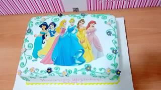 Disney Princess #6 Edible Frosting Sheet Cake Topper Fondant Cake Decorating
