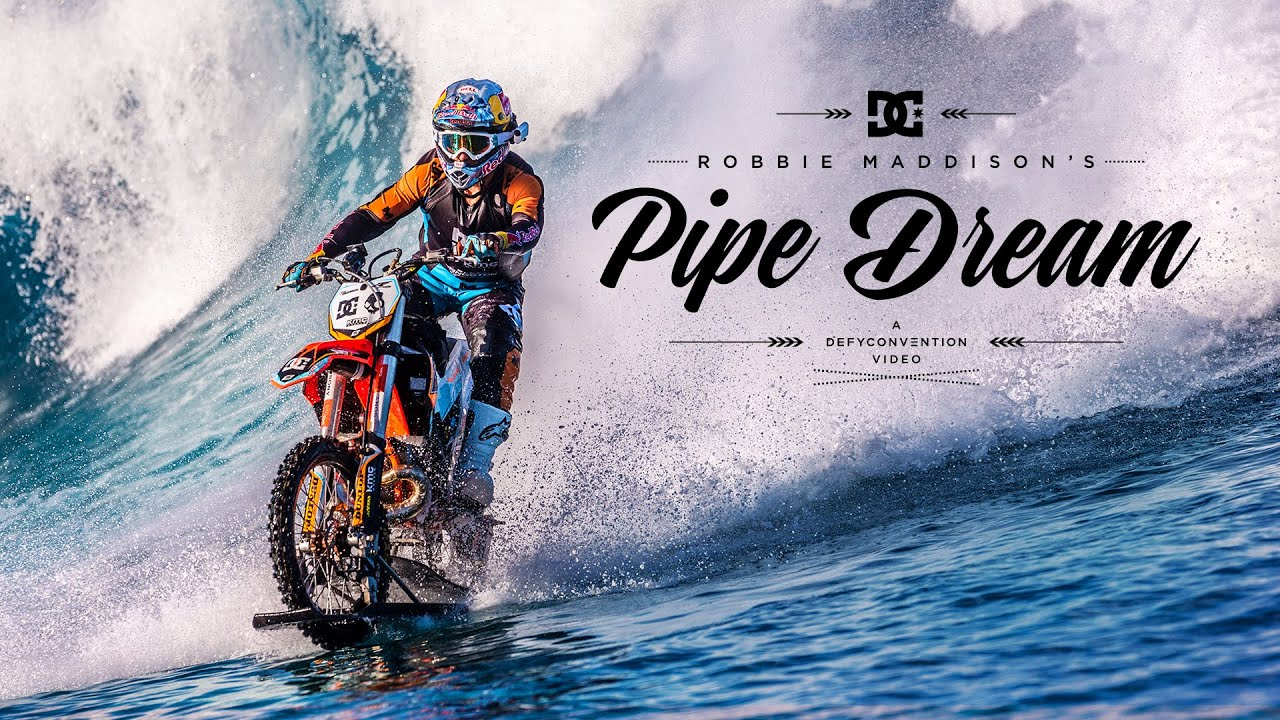 Aussie Motorcross Champ Goes Big Wave Surfing With A Motorbike In 4K. Your Life Is Meaningless.