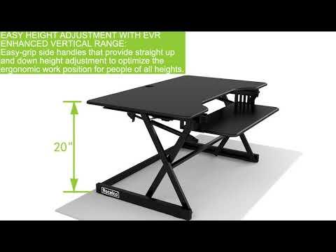 Rocelco DADR-40 Sit Stand Desk Riser