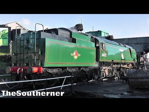 34072 '257 Squadron' returns to steam on the Swanage Railway…