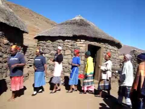 Lesotho women singing, beautiful day out there