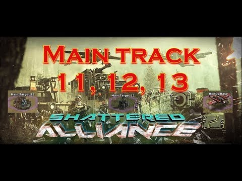 War Commander : Shattered Alliance Main track 11, 12, 13