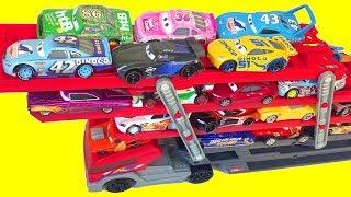 Тачки 3 Гонщики Много Машинок Трейлер Хот Вилс Игрушки Видео для Детей