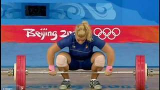 Weightlifting olimpic games 2008 women (75kg) Lidia Valentin(Spain)
