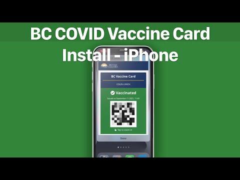 BC COVID Vaccine Card Install - iPhone thumbnail