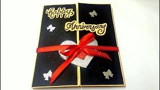 A Beautiful Anniversary card idea   How to make anniversary card at home   complete tutorial