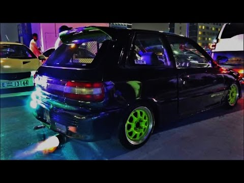 Video Modified Toyota Starlet GT Turbo Loud Pops & Bangs