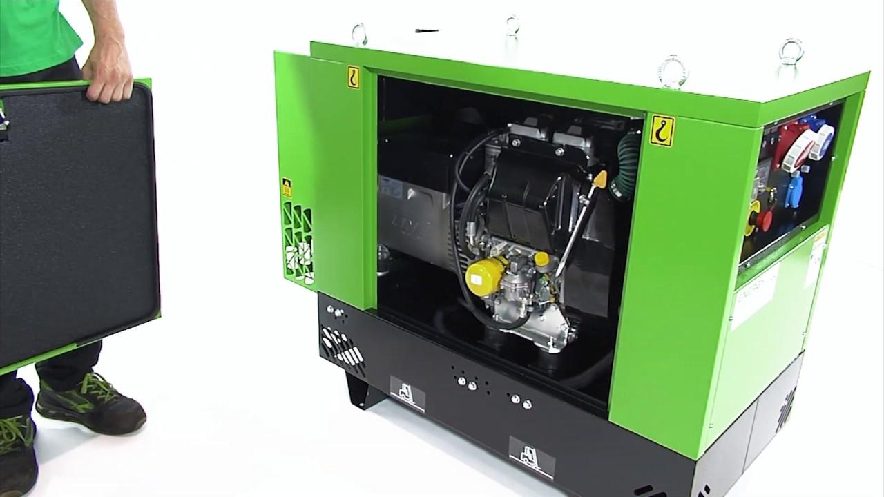 Gruppo Elettrogeno Industriale Energy Modello EY-12,5TDE-S