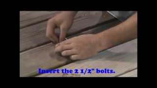 building mounting alumispan dock ladder
