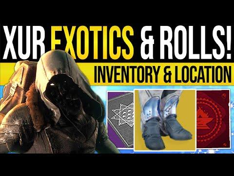 Destiny 2 | XUR'S EXOTICS & LOCATION! Enhanced Rolls & Triple Valor | 20th September 2019