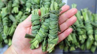 LEMONGRASS: Wrapping lemongrass leaves & How we like to store them [Tauj Qab]