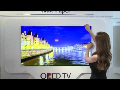 Pantalla OLED de LG tiene menos de 1 mm de grosor y de paso se pega y despega de la pared con imanes