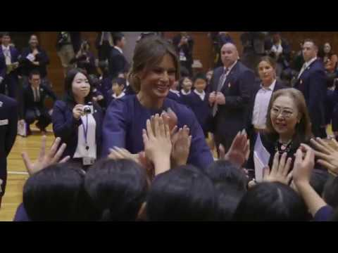 First Lady Melania Trump Visits Japan
